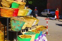 Kräuter u. Gewürze, Marokko Stockbild