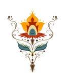 Kräuter und herrliche Blume für Design Stockfotos