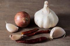Kräuter und Lebensmittelinhaltsstoff. Stockfoto