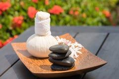 Kräuterbadekurort-Massage im Freien Stockfotos