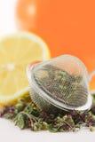 Kräutertee mit Zitrone und Honig Stockfoto