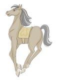 Kråma sig häst Arkivbild