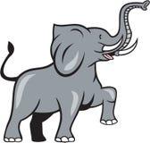 Kråma sig tecknad film för elefantmarsch Arkivfoton