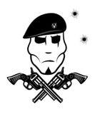 Krócica i żołnierz w berecie royalty ilustracja