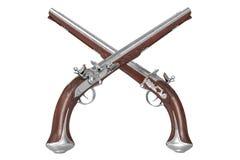 Krócicy armatnia broń Fotografia Stock