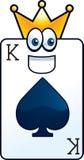 król karty Fotografia Royalty Free
