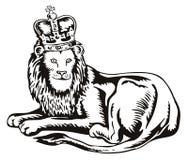 król lew Zdjęcie Stock
