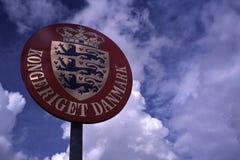 Królestwo Dani znak, Kongeriget Danmark Zdjęcia Royalty Free