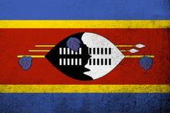 Królestwo Eswatini Swaziland flaga państowowa Grunge tło ilustracja wektor