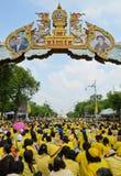 Królewiątka Bhumibol 85 th urodziny świętowanie Obrazy Royalty Free