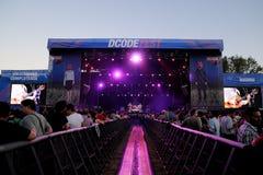 Królewiątka dogodność zespół wykonują przy DcodeDeportivo Cantarranas zdjęcia royalty free