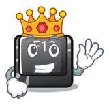 Królewiątka f12 guzik instalujący na kreskówka komputerze ilustracja wektor