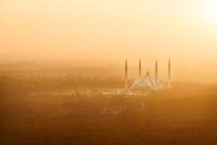 Królewiątka Faisal meczet, Pakistan obraz royalty free
