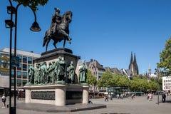 Królewiątka Friedrich Wilhelm III statua w Kolońskim Niemcy Obraz Stock
