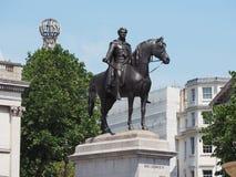 Królewiątka George IV statua w Londyn fotografia stock