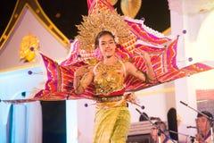Królewiątka Ka losu angeles tancerz jest Północnym tradycyjnym Tajlandzkim tanem Zdjęcia Royalty Free