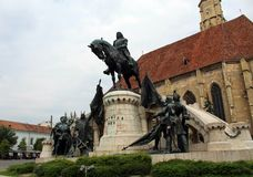 Królewiątka Matthias Corvin statua obraz stock