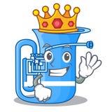 Królewiątka miniaturowy tuba w kształt kreskówce royalty ilustracja