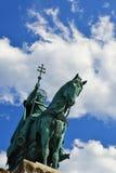 Królewiątka St Stephen's statua w Budapest Obrazy Royalty Free