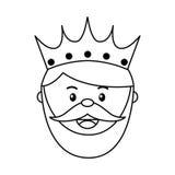 Królewiątko czarownika ikony objawienie pańskie odizolowywający projekt ilustracja wektor