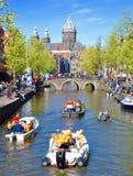 Królewiątko dzień w Amsterdam Obrazy Royalty Free
