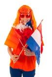 Królewiątko dzień w Holandia w pomarańcze fotografia royalty free