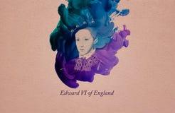 Królewiątko Edward VI Anglia royalty ilustracja