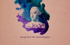 Królewiątko George III Zjednoczone Królestwo royalty ilustracja