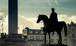 Królewiątko George IV przy Trafalgar kwadratem obrazy stock