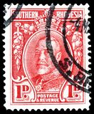 Królewiątko George na znaczkach pocztowych obrazy stock