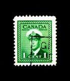 Królewiątko George VI: 1942-48 Wojenny wysiłek,' Ostateczny Emisyjny seria ', cir obrazy royalty free