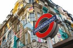 Królewiątko krzyża/St Pancras stacja znak Obraz Royalty Free