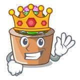 Królewiątko maskotki gwiazdy kaktus dekoruje w ogródzie ilustracji