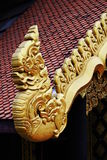 Królewiątko Naga na świątynnym budynku Zdjęcie Royalty Free