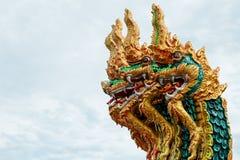 Królewiątko Nagas sześć kierowniczy, Tajlandzki smok Fotografia Royalty Free