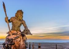Królewiątko Neptune przy Neptune parkiem, Virginia plaża Fotografia Stock