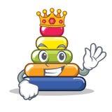 Królewiątko ostrosłupa pierścionku charakteru kreskówka Zdjęcia Stock