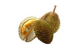 Królewiątko owoc, durian na białym tle Fotografia Royalty Free