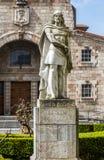 Królewiątko Pelayo w Covadonga sanktuarium, (Chrześcijański królewiątko Asturias) Obrazy Stock