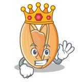 Królewiątko pistacjowej dokrętki maskotki kreskówka Zdjęcia Royalty Free