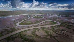 Królewiątko rzeka na pływowych bagnach blisko Wyndham, Kimberley, Australia Obraz Stock
