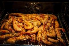 królewiątko smażyć krewetki dinner uczta zdjęcie royalty free
