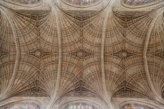Królewiątko szkoły wyższa kaplica Cambridge Anglia Zdjęcia Stock