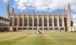 Królewiątko szkoły wyższa kaplica Cambridge Anglia Obraz Stock