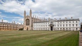 Królewiątko szkoły wyższa kaplica Cambridge Anglia Fotografia Stock