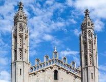 Królewiątko szkoły wyższa kaplicy uniwersytet w cambridge Anglia Zdjęcia Stock