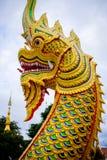 Królewiątko wąż lub tajlandzka smok statua w Udon Thani, Tajlandia zdjęcie stock