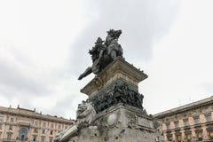Królewiątko zwycięzca Emmanuel II - Mediolan, Włochy fotografia royalty free