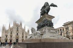 Królewiątko zwycięzca Emmanuel II - Mediolan, Włochy zdjęcia royalty free