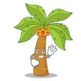 Królewiątka drzewka palmowego charakteru kreskówka Zdjęcie Royalty Free